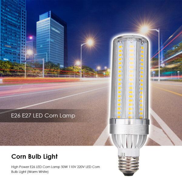 Đèn LED Hình Bắp Ngô E26 E27 Công Suất Cao, Bóng Đèn Ngô 50W 110V 220V Đối Với Trang Chủ