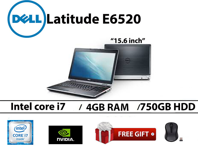 Dell Latitude E6520 Intel core i7-2nd gen 4GB RAM 750GB HDD 15.6 INCH Malaysia