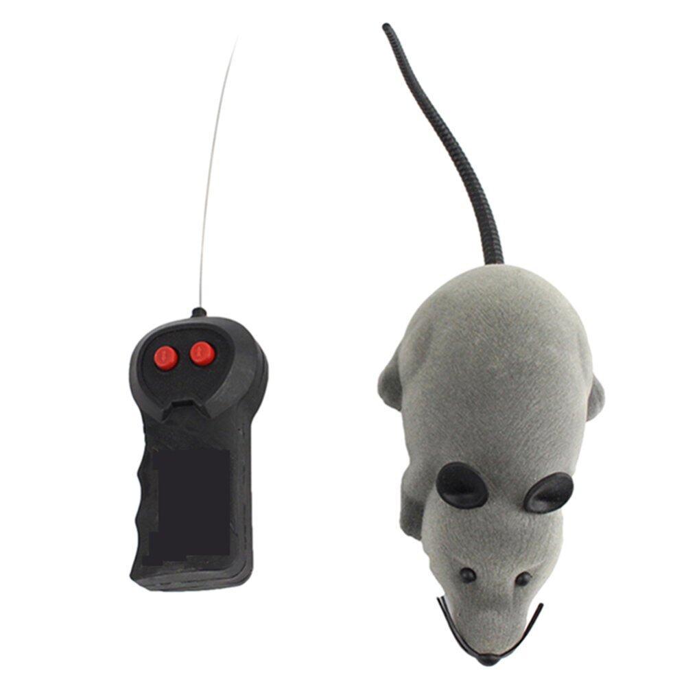 Gracefulvara Kebaruan Lucu RC Jarak Jauh Pengendali Nirkabel Lucu Hewan Peliharaan Kucing Anjing Tikus Mouse Mainan