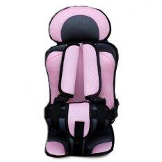 Gracoo Portable Baby Safety Seat Carseat Childrens Chairs Car Thickening Sponge Kids Seats Sweet Cherry (pink) By Crc Mall.