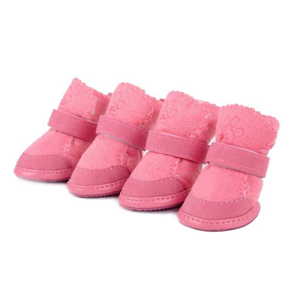 Haofei Pet Dog Winter Anti-Slip Shoes Boots Booties Apparel (pink) By Qjq Store.