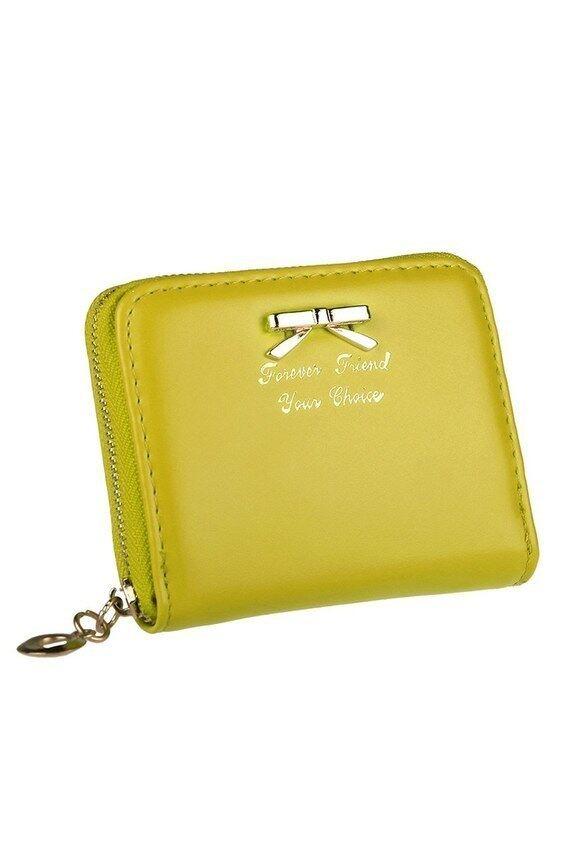 HKS Wanita Mode untuk Wanita Lucu Tas Ikatan Simpul Dompet Clutch Pendek Smallbag Pemegang Kartu PU