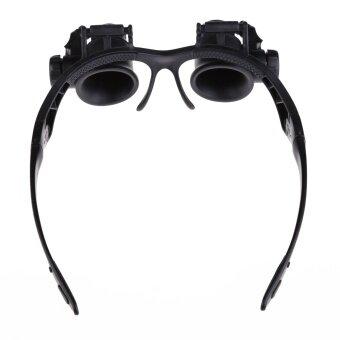 10X 15X 20X 25X Double Eye Jeweler Watch Repair Magnifier Glasses Loupe