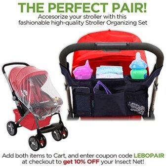 [International Shipping]Baby Insect Net By Lebogner - Stroller Mosquito Net, Fits Carriers, Car Seats, Cradles & Most Cribs, Bassinets & Playpens. Made Of Durable White Mesh Netting That Provides Complete Child Protection()