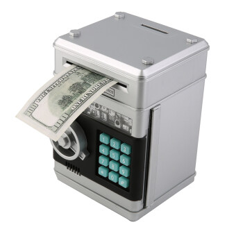 Allwin Kids Electronic Money Safe Box Password Saving Bank ATM for Coins and Bills