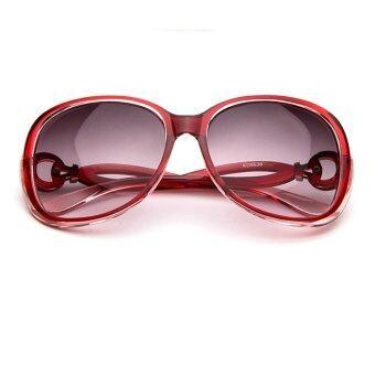 2015 New fashion Europe Large frame Female tide Anti-UV Sunglasses (Red)