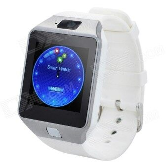 (2016 MTK6261D New Version CPU - Original) ZenGear 2016 New Version DZ-09 Wearables SmartWatch with Hands-Free Call Built-in Camera Bluetooth Connect for Android (White)