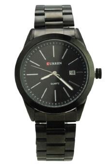 0c97007d419 (100% Authentic) Curren Men s Black Stainless Steel Strap Watch 8091 (Japan  Movement
