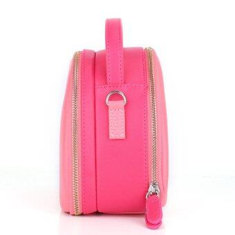 Camera Case Shoulder Bag for Fujifilm Polaroid Instax Mini8 90 7 50S (Pink Shell)