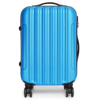 [Venture Deal] 20\ Hard & Compact ABS Suitcase Straight Line Travel Luggage (Blue)