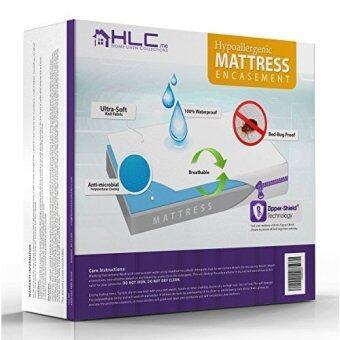 100% Waterproof & Bed Bug Proof Encasement - Breathable - Dust Mite Proof Mattress Protector - 5 Year Warranty - Queen Size