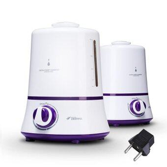 [Bundle] Deerma Air Humidifier + 2-Pin Plug - 3.8L With Safety Mode Auto Shut Off Wet Fresh Air