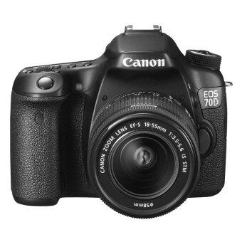 Canon EOS 70D with 18-55mm STM(Black) + 55-250mm IS II + 50mm f1.8 Lens Kit