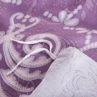 100% Cotton Elegant purple Bedding SET Duvet cover and pillow case with Embroidery 4 Pieces Cover