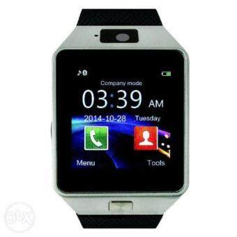 (2016 MTK6261D New Version CPU - Original) ZenGear DZ-09 Wearables SmartWatch with Hands-Free Call Built-in Camera Bluetooth Connect for Android (Silver Black)