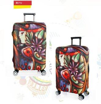 b23adeb777 FLORA Stretchable Elasticy 18-20 inch Waterproof Stretchable Suitcase  Luggage Cover to Travel- Pretty