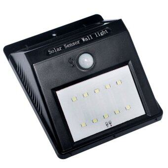 10 LED Solar Power PIR Motion Sensor Wall Light Outdoor Garden Lamp
