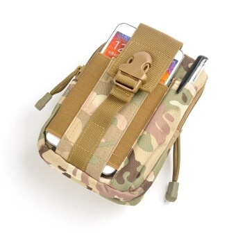 2016 New Tactical Molle Waist Bags Waterproof Men Outdoor Sport Casual Waist Pack nylon Work Waist Bag Army Military Small bags (camouflageA)