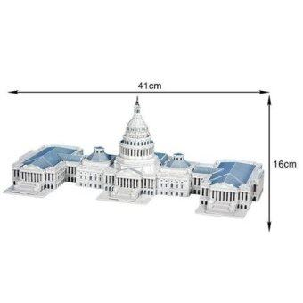3D Puzzle Jigsaw United States Capitol 132 Pieces DIY Assemble Educational Toy