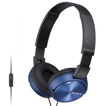 [ Original ] Sony MDR-ZX310AP Light Weight Headphones - Powerful & Balanced Stereo Sound With Folding Design - Blue