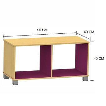 [SPECIAL CLEARANCE SALES] Pamica CT2009 Candie 2 Tone Coffee Table (Maple Purple)