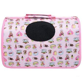 [Big Size] Oxford Pet Carrier Bag Carry - Pink Cake