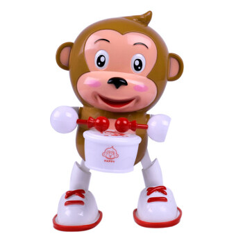 Electric Dancing Monkey Flashing LED Light Baby Kid Developmental Music Toy