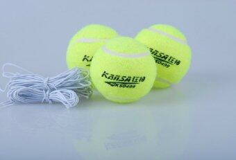 3pcs/set Tennis Ball with Elastic Rope Training Balls for Beginners Trainer Single Train Tool