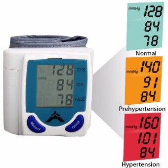 1Pcs Wrist Digital Blood Pressure Portable Automatic Sphygmomanometer LCD Pulse Monitor Blood Pressure Meter for Home Use