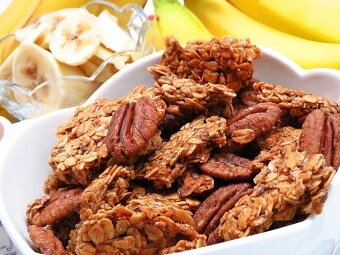 3 Packs of Banana Bread Pecan Granola (150g)