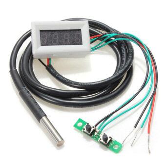 0.30 Digital display Meter Car Time+Temperature+Volt MeasurementLED DC 33V Red+White