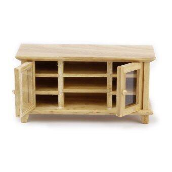 2pcs*Dollhouse Miniature 1:12 Wooden Tv Cabinet
