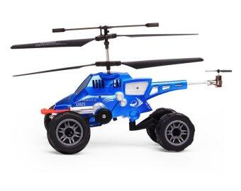 Hot Selling Remote Control Flying Helicopter Car Blue