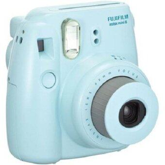 Fujifilm Instax mini 8 blue Instant Film Camera Fuji + 10 sheets mini film White