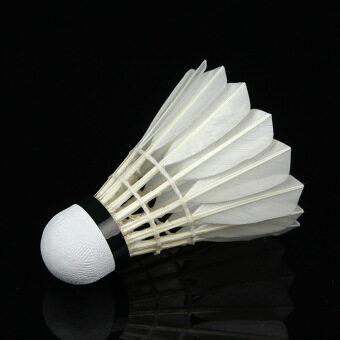 24 Pieces 77# Shuttlecock Feather Badminton Balls White for Training Outdoor Sports