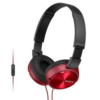 [ Original ] Sony MDR-ZX310AP Light Weight Headphones - Powerful & Balanced Stereo Sound With Folding Design - Red