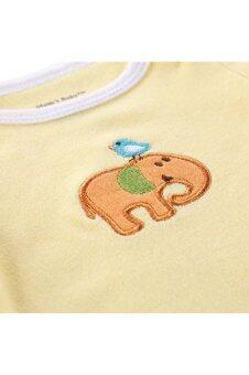 3 Pack Short Sleeve Onesies Baby Bodysuit for Baby Boys/Girls (33)