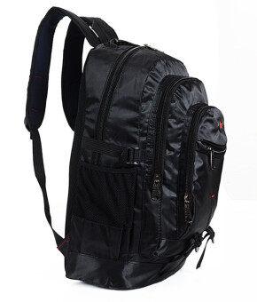 2016 New style Outdoor pockets Foldable travel backpack Computer business travel bag Waterproof Shoulder Bags School bags Hiking bag (Black)