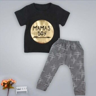 2016 Hot sale New 2pcs Newborn Toddler Infant Kids Baby Boy Clothes T-shirt Tops+Pants Outfits Set