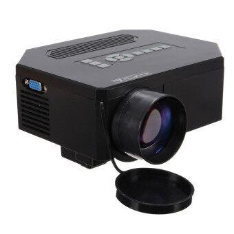 1200lumens HD 1080P Home Cinema 3D HDMI USB Video Game LED LCD Mini Projector Black
