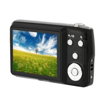 15MP Digital Camera 2.7inch LCD Screen 3X Optical Zoom 4X Digital Zoom Rechargeable Li-ion battery with Anti-shake (Black)