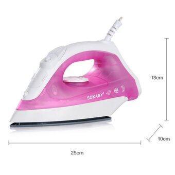 1Pcs Home Essentials 1400W Appliances Dry Spray Corded Steam Iron Pink-