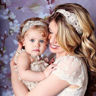 Baby And Mom Flower Lace Hair Bands Children Headbands