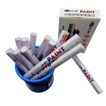 12PCS Fine Paint Oil Based Art Marker Pen Glass Metal Waterproof Permanent Tyre White