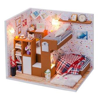 A Small Partner with Light/Anti-dust cover DIY Miniature Doll House
