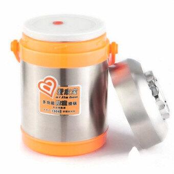 1.9L Multifunctional Stainless steel Heat Preservation Portabel Pot - Orange