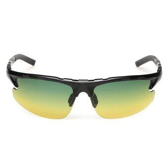 1023-K Day Night Vision Polarized Lens Aluminum Magnesium Alloy Frame Sunglasses (Black)