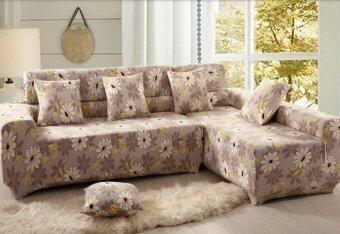 1 Seater High Elasticity Anti-mite Floral Chair Covers Sofa Cover Slipcover Couch
