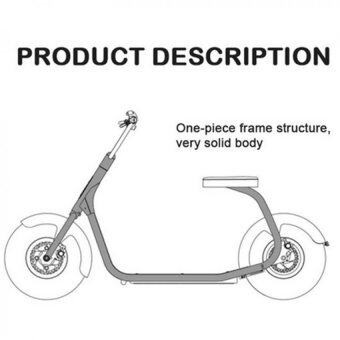 (IMPORT) High Quality CityCoCo Harley 2 wheels off road smart city scooter electric motorcycle (Black)
