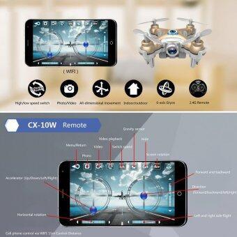 (Golden)Cheerson CX-10W Mini Wifi FPV 0.3MP Camera 3D Flip 2.4G 4CH